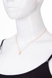 FAME ACCESORIES Dainty Padlock with Keyhole Necklace - Side cropped