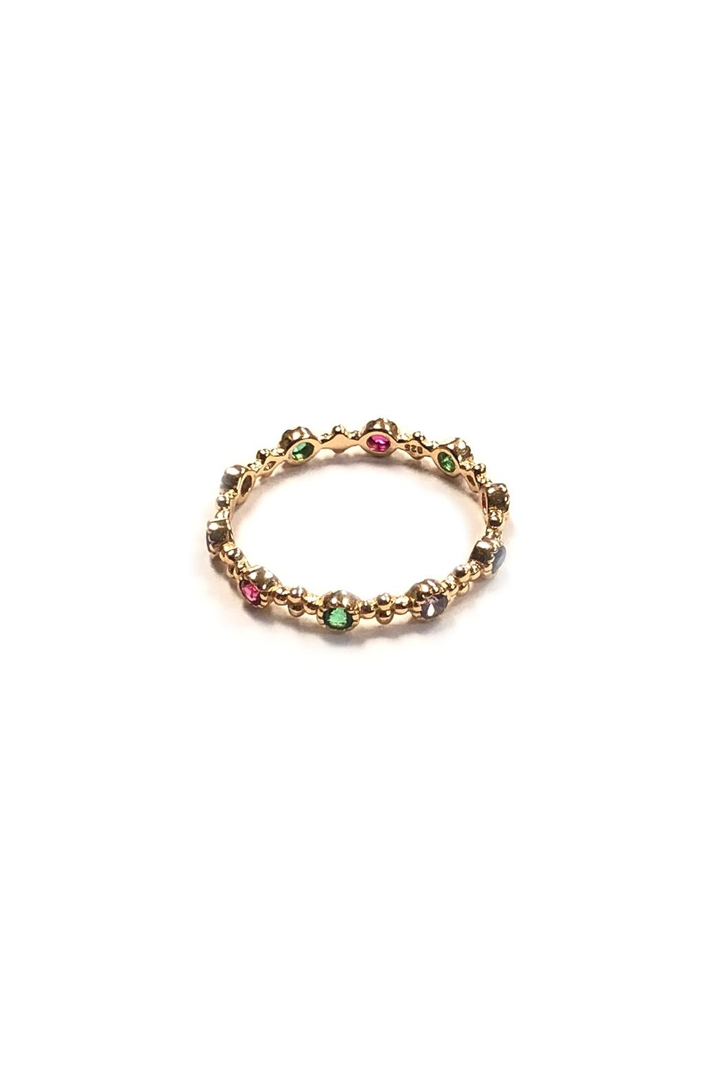 Lets Accessorize Dainty Rainbow Ring - Main Image