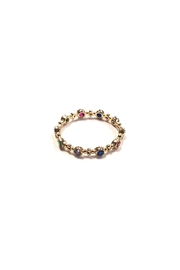 Lets Accessorize Dainty Rainbow Ring - Front full body
