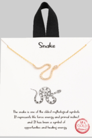 FAME ACCESORIES Dainty Snake Necklace - Front cropped