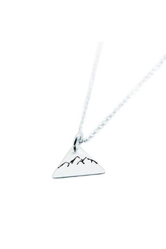 Nashelle Dainty Triangle Mountain Necklace - Product List Image