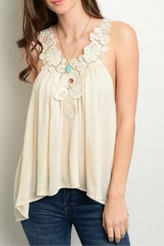 Shoptiques Product: Cream Lace Tank
