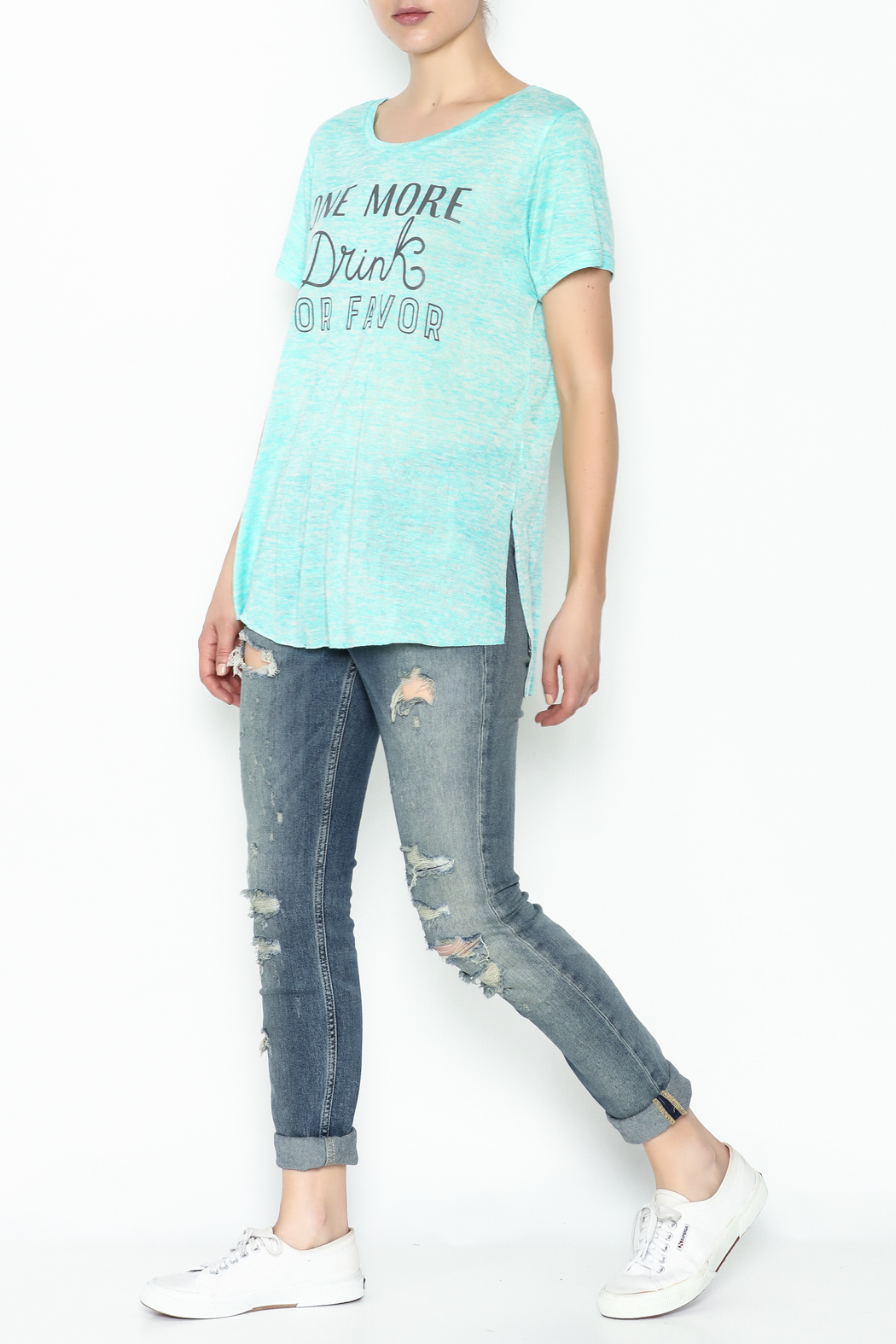Daisey Ray One More Drink Tee - Side Cropped Image