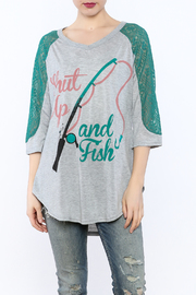 Daisey Ray Fish T-Shirt - Product Mini Image
