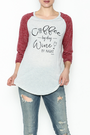 Daisey Ray Wine Long Sleeve Top - Product Mini Image