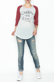 Daisey Ray Wine Long Sleeve Top - Side cropped