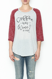 Daisey Ray Wine Long Sleeve Top - Front full body