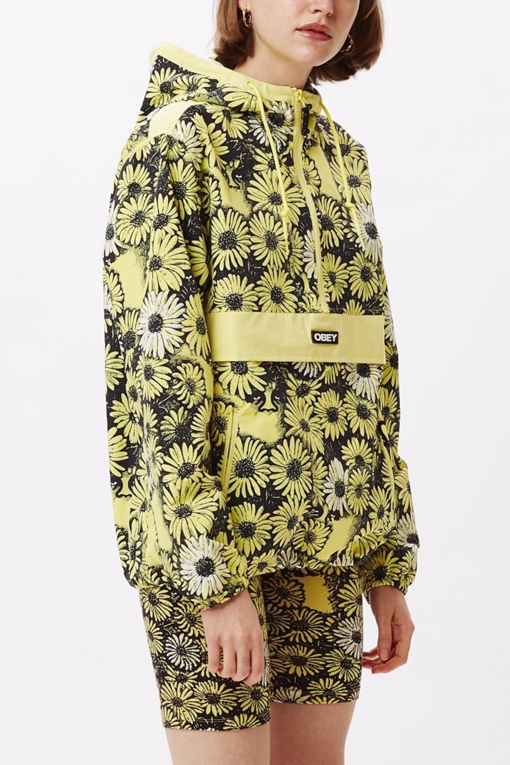 Obey Daisy Anorak - Side Cropped Image