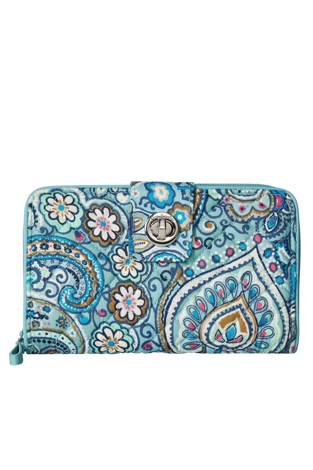 Vera Bradley Daisy Dot Paisley-Turnlock - Front Cropped Image