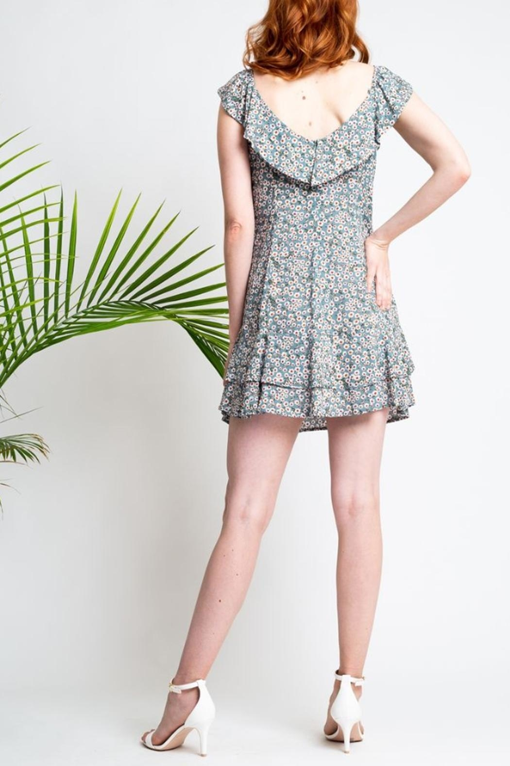 Glam Daisy Floral Dress - Front Full Image