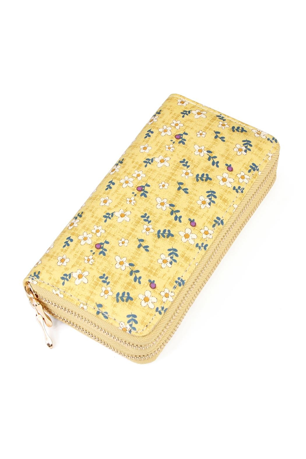 Riah Fashion Daisy Floral Wallet - Front Cropped Image