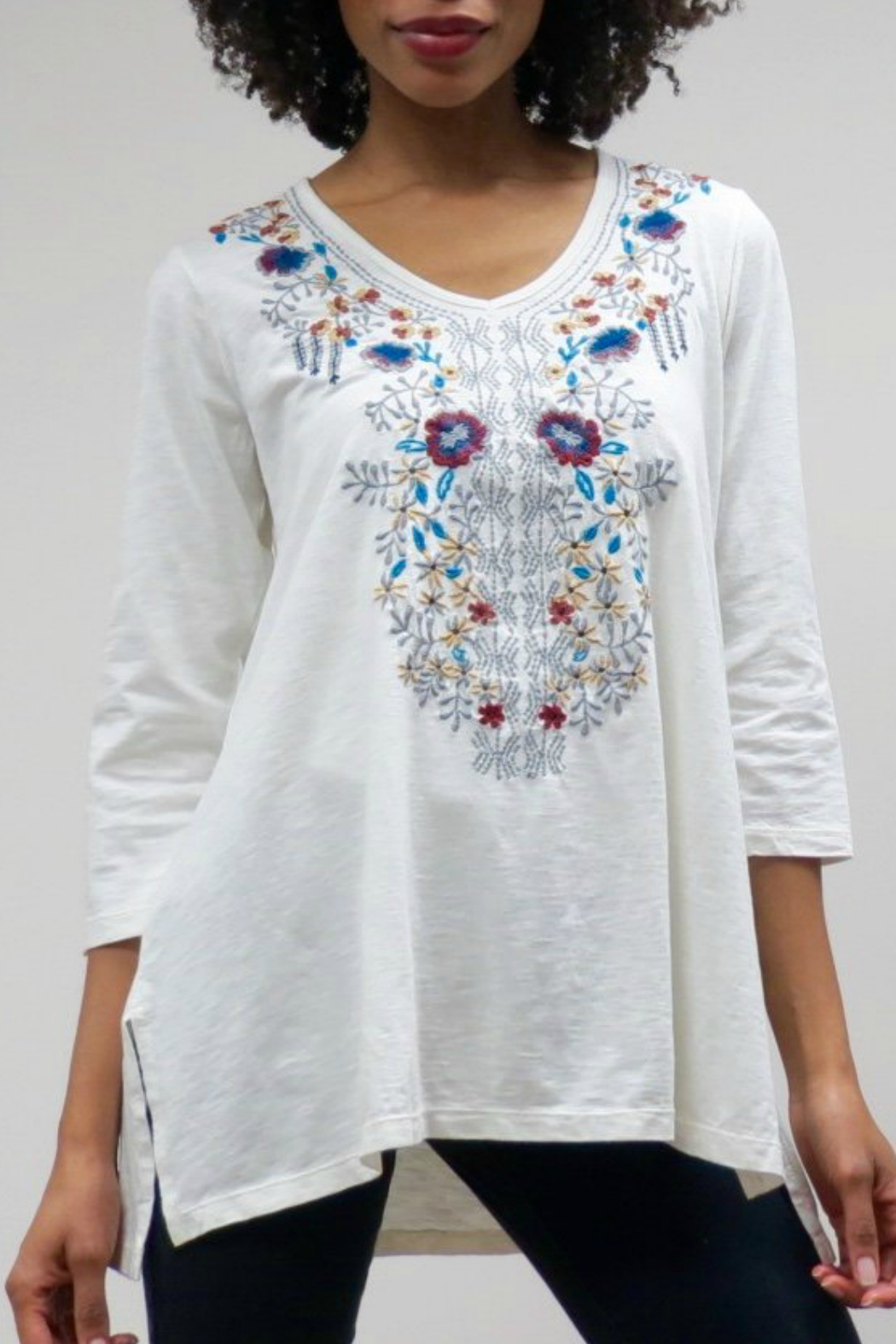 Caite DAISY KNIT TUNIC - Front Cropped Image