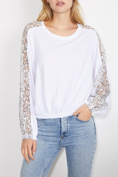 Shoptiques Product: Daisy Lace Sweatshirt