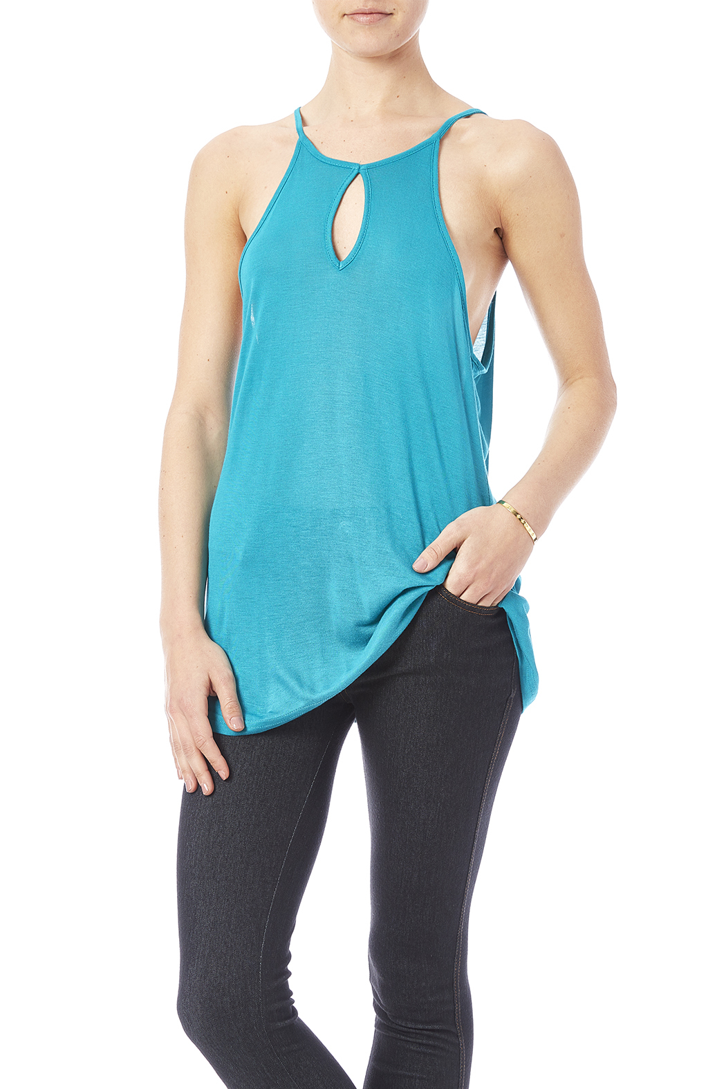 Daisy's Fashions Bamboo Tank - Front Cropped Image