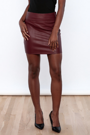 Daisy's Fashions Faux Leather Skirt - Product Mini Image
