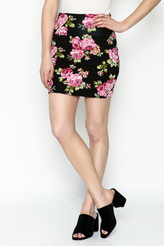 Daisy's Fashions Floral Print Mini Skirt - Product List Image