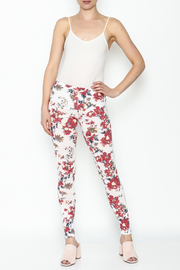Daisy's Fashions Flower Print Leggings - Side cropped