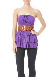 Daisy's Fashions Frilly Top - Front cropped