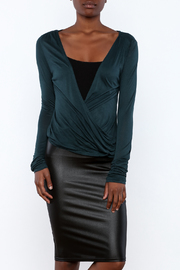 Daisy's Fashions Jersey Wrap Top - Front cropped