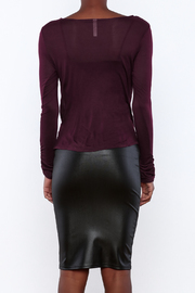 Daisy's Fashions Jersey Wrap Top - Back cropped