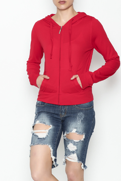 Daisy's Fashions Melange Zip Up Hoodie - Product List Image
