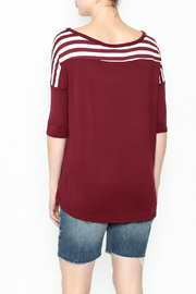 Daisy's Fashions Stripe Pocket Tee - Back cropped