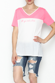 Daisy's Fashions V Neck Printed Tee - Front cropped