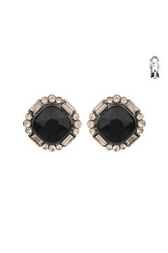 Shoptiques Product: Black Clip On Earring