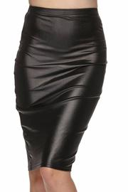 Daisy's Fashions Faux Leather Skirt - Front full body