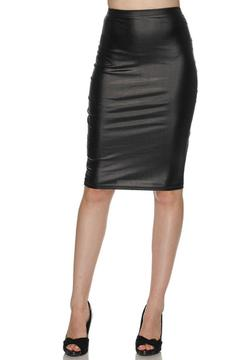 Daisy's Fashions Faux Leather Skirt - Product List Image