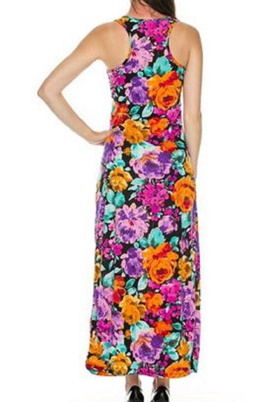 Daisy's Fashions Floral Maxi Dress - Front Full Image