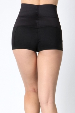 Daisy's Fashions Hi Waist Mini Shorts - Alternate List Image