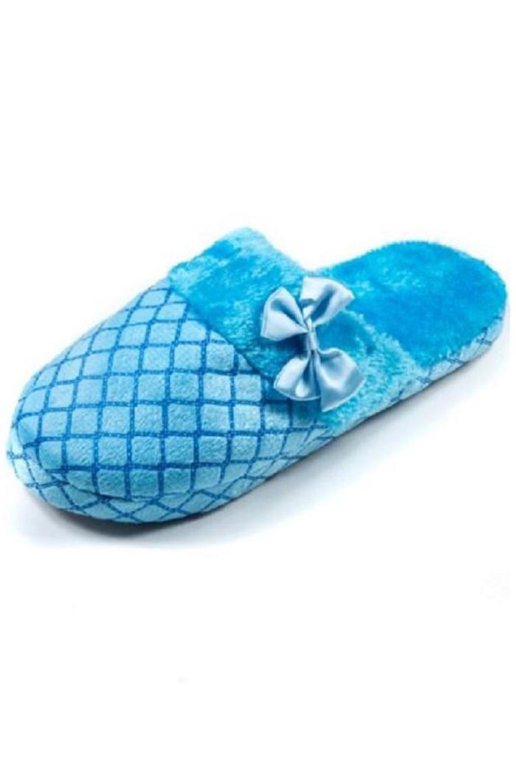 Daisy's Fashions Lounge Slipper Blue - Front Cropped Image