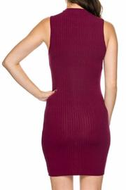 Daisy's Fashions Mockneck Ribbed Dress - Side cropped