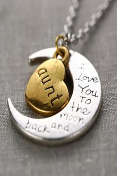 Daisy's Fashions Moon Charm Necklace - Product List Image