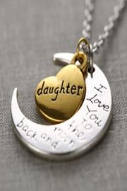 Daisy's Fashions Moon Charm Necklace - Product Mini Image
