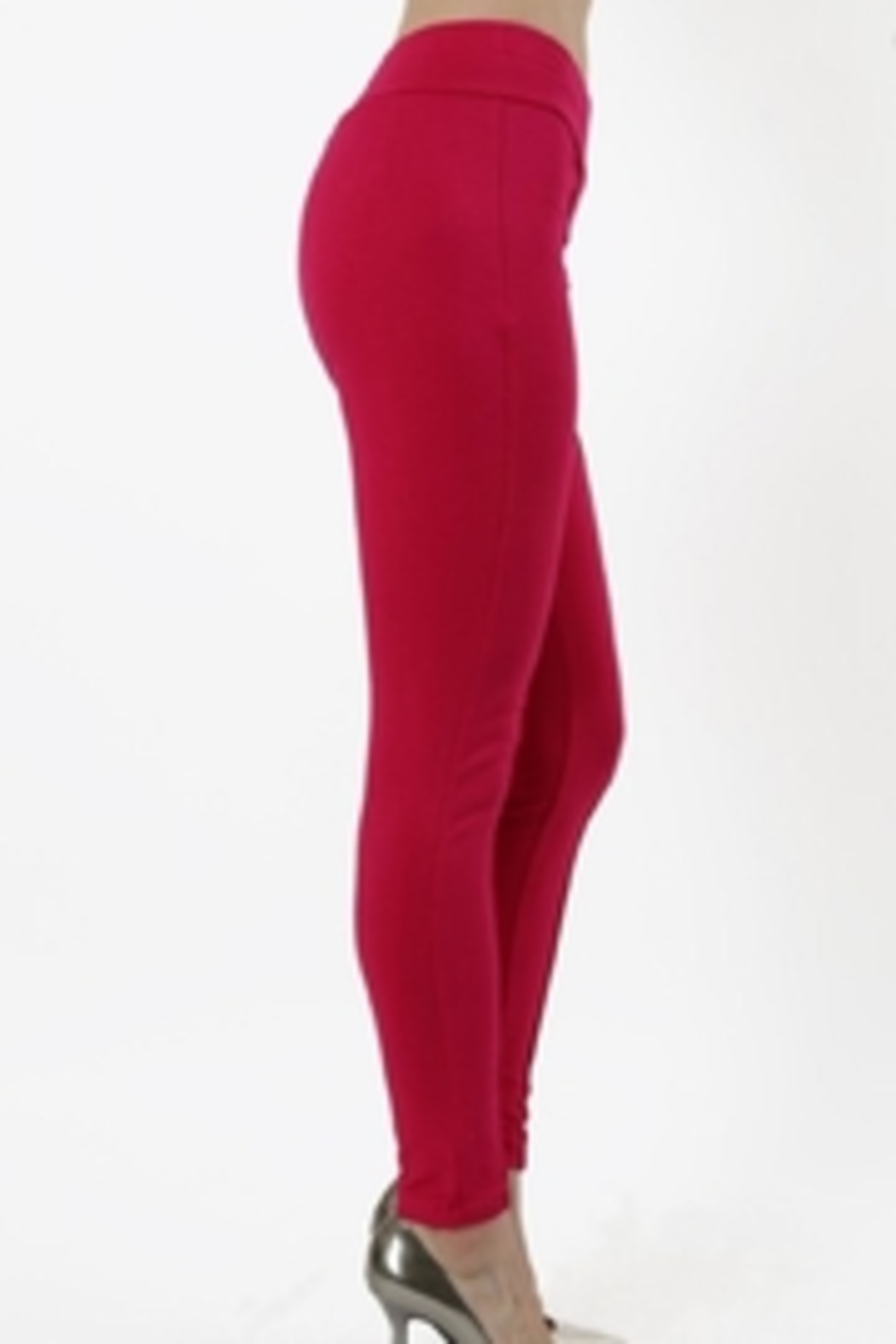 Daisy's Fashions Stretch Leggings - Front Full Image