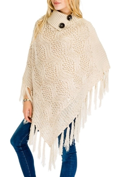 Daisy's Fashions Turtle Neck Poncho - Product List Image
