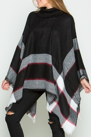 Daisy's Fashions Turtle Neck Poncho - Front cropped