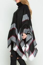 Daisy's Fashions Turtle Neck Poncho - Side cropped