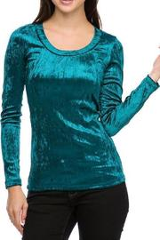 Daisy's Fashions Velour Scoop-Neck Top - Product Mini Image