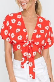 Lush Clothing  Daisy Tie Top - Front full body