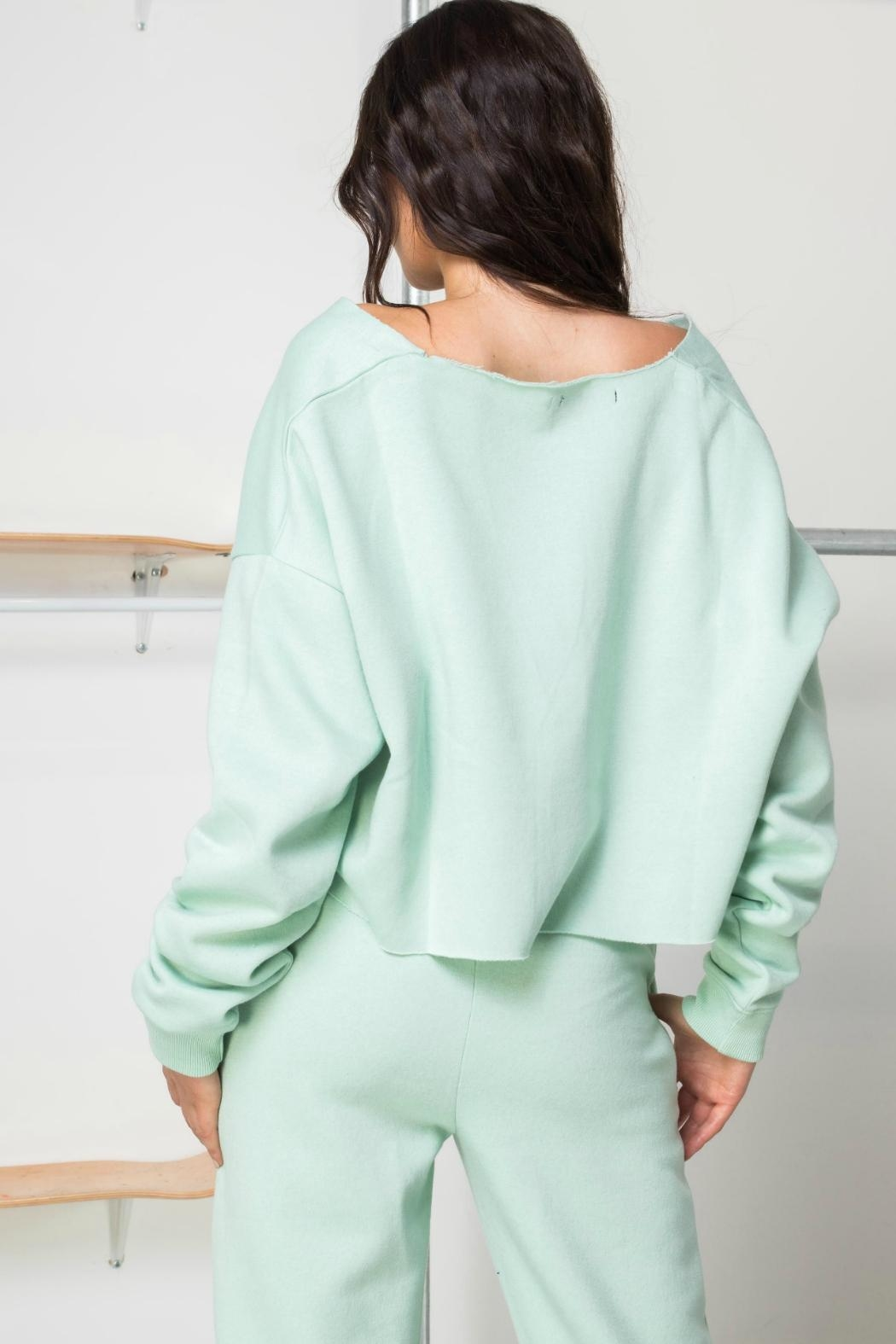 Daisy Street Mint Soleil Crop - Front Full Image