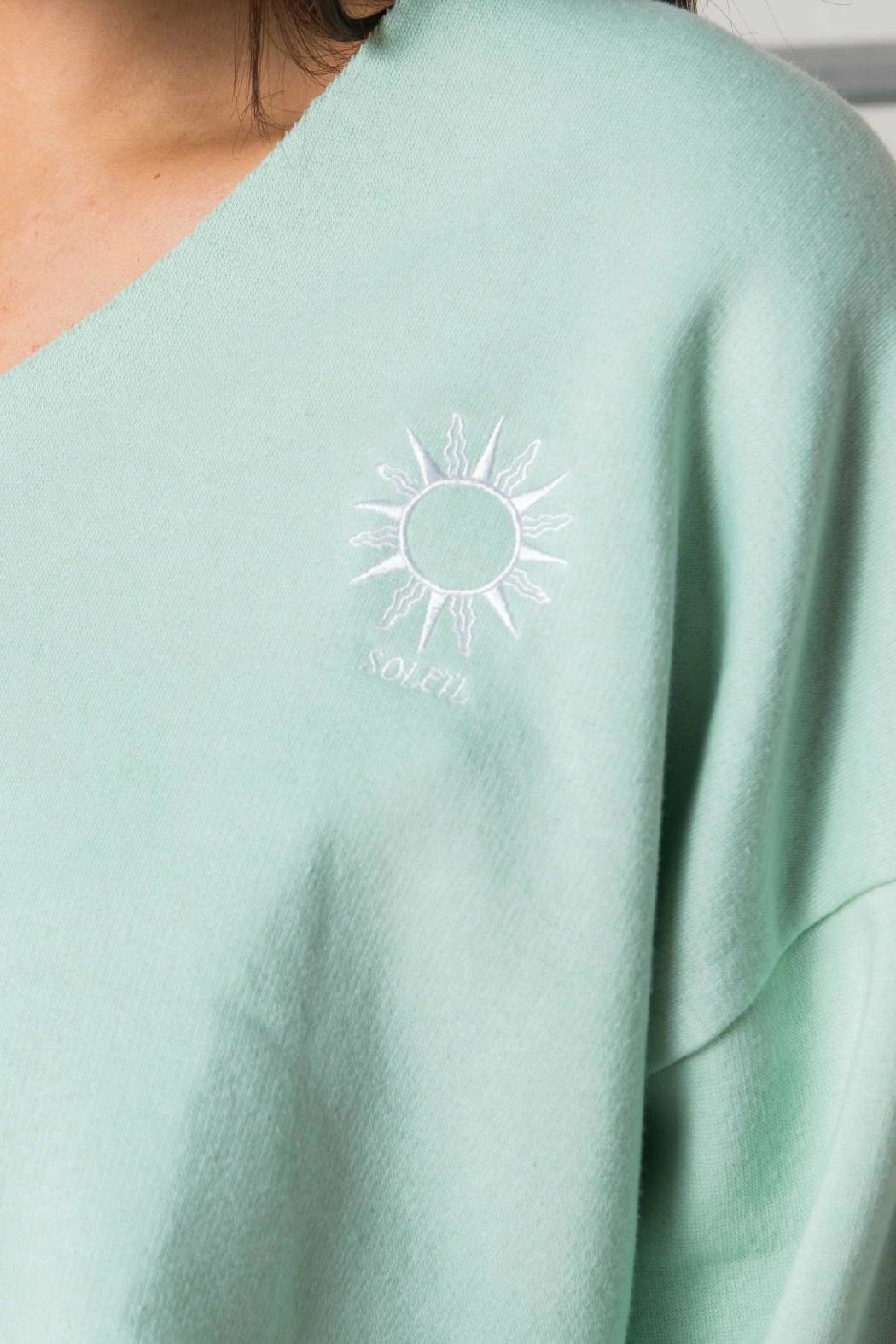 Daisy Street Mint Soleil Crop - Back Cropped Image