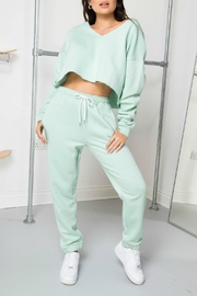 Daisy Street Mint Soleil Joggers - Front cropped
