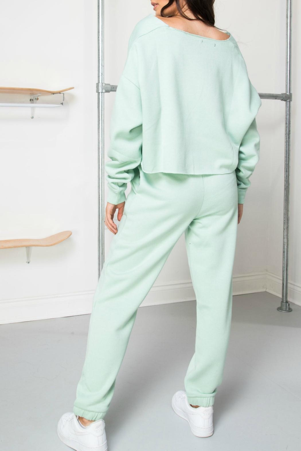 Daisy Street Mint Soleil Joggers - Back Cropped Image