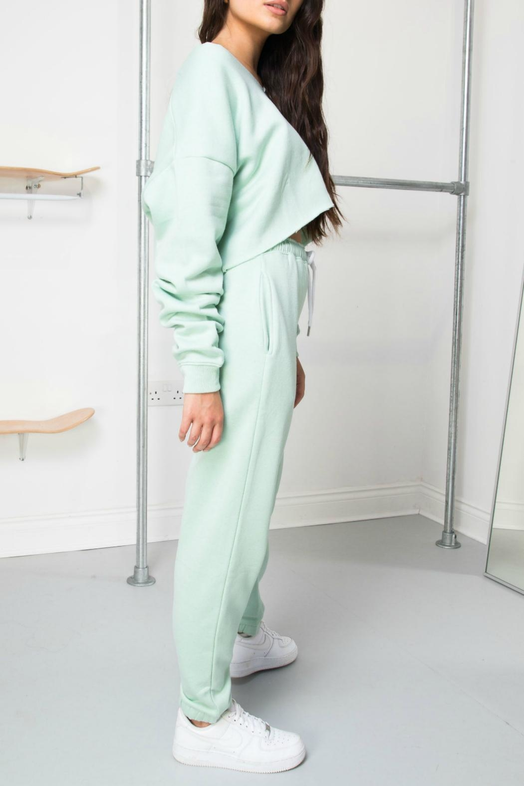 Daisy Street Mint Soleil Joggers - Side Cropped Image