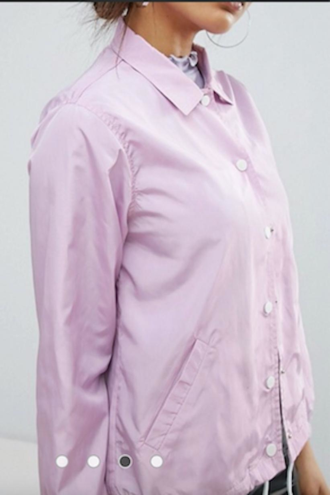 Daisy Street Norah Lilac Jacket - Front Cropped Image