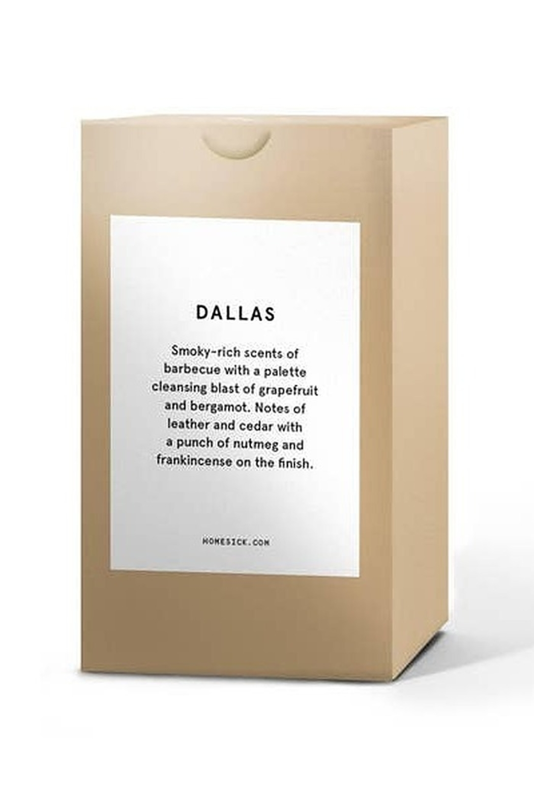 HOMESICK Dallas Candle - Front Full Image