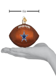 Old World Christmas Dallas Cowboys Football Ornament - Product Mini Image